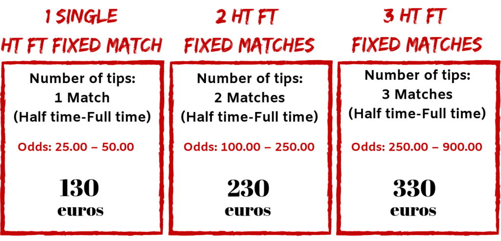 best offer for ht ft fixed matches 100% sure betting predictions